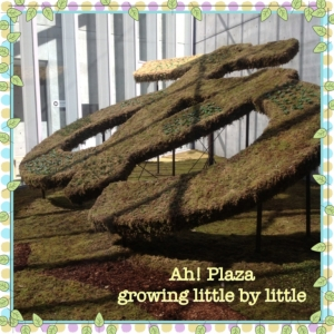 "The ""Ah!"" covered in greenery. Growing little by little, day by day..."