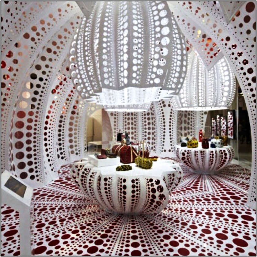 Louis Vuitton & Kusama concept store at Selfridges, 2012