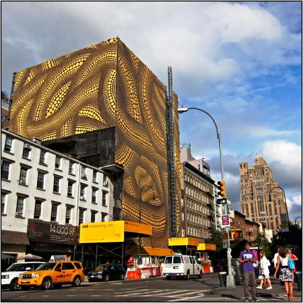 """Yellow Trees"" Takes Over Meatpacking District Building, 2012"