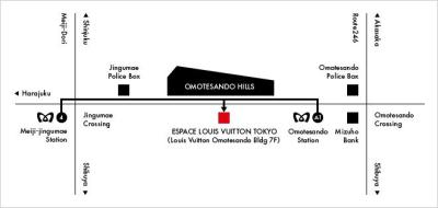 Espace Louis Vuitton map