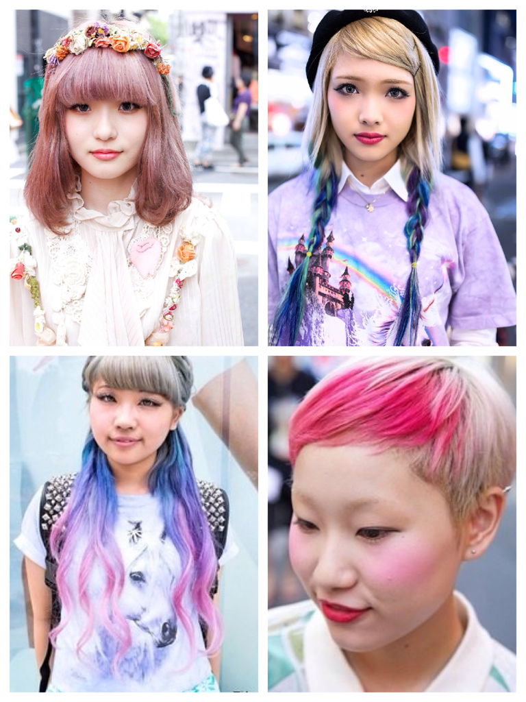 Excellent Tokyo Hairstyles All The Colors In The Rainbow Universotokyo Hairstyle Inspiration Daily Dogsangcom