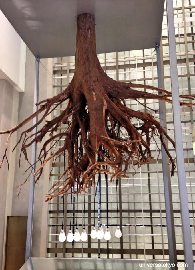 Suspended Bonsai Installation, Mitsukoshi, Ginza, 2014